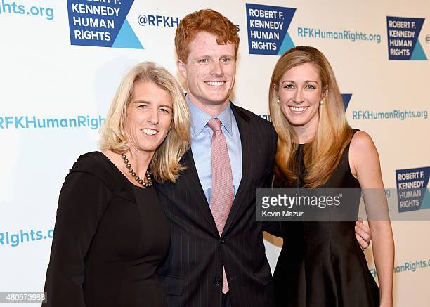 Rory Kennedy Joseph Kennedy III and Lauren Anne Birchfield attend the RFK Ripple Of Hope Gala at Hilton Hotel Midtown on December 16 2014 in New York...