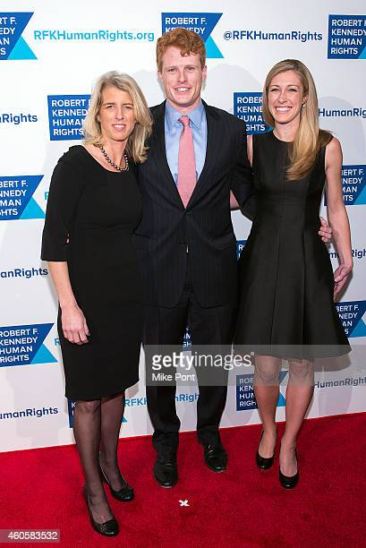 Rory Kennedy Joseph Kennedy III and Lauren Anne Birchfield attend the 2014 Robert F Kennedy Ripple Of Hope Awards at the New York Hilton on December...