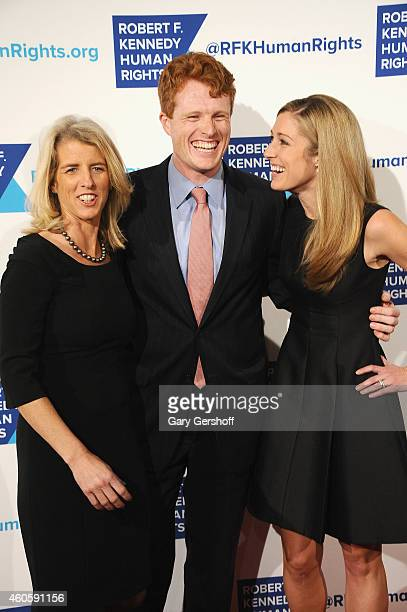 Rory Kennedy Joseph Kennedy III and Lauren Anne Birchfield attend the 2014 RFK Ripple Of Hope Gala at New York Hilton on December 16 2014 in New York...