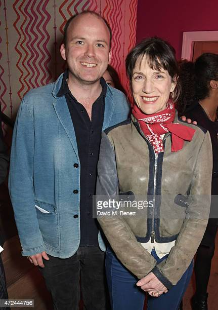 Rory Kinnear and Dame Harriet Walter celebrate following the live broadcast of The Donmar Warehouse's production of 'The Vote' at the Ham Yard Hotel...