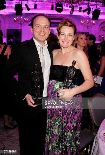 Rory Kinnear best actor and Nancy Carroll Best Actressattends the London Evening Standard Theatre Awards ceremony at The Savoy Hotel on November 28...