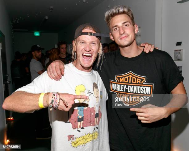 Rory Kramer and Mark Dohner attend MTV's Dare To Live Premiere Party at WNDO Space on August 29 2017 in Venice California