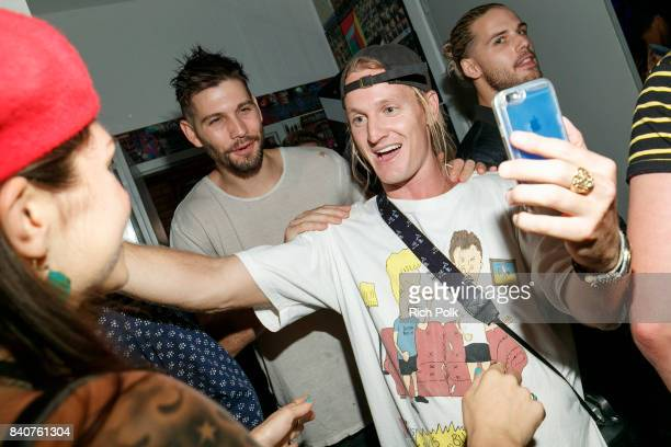 Rory Kramer greets guests at MTV's Dare To Live Premiere Party at WNDO Space on August 29 2017 in Venice California