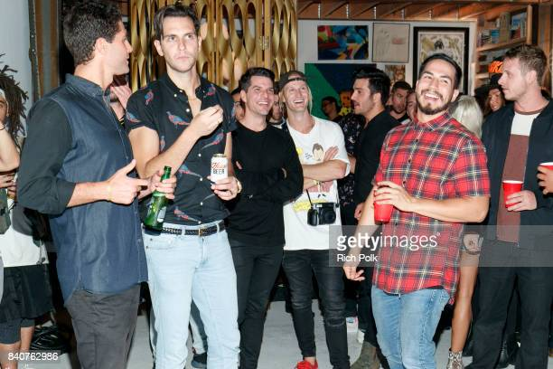 Rory Kramer watches an episode with guests at MTV's Dare To Live Premiere Party at WNDO Space on August 29 2017 in Venice California
