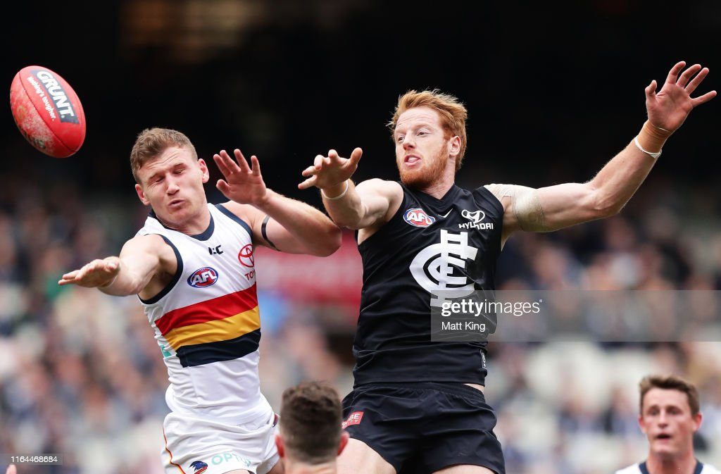 AFL Rd 19 - Carlton v Adelaide : News Photo