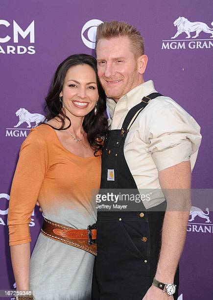 Rory Lee Feek and Joey Martin Feek arrives at the 48th Annual Academy of Country Music Awards at the MGM Grand Garden Arena on April 7 2013 in Las...