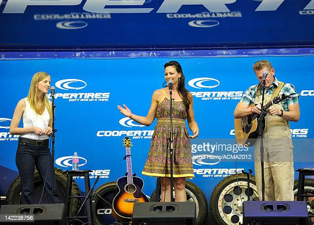 Rory Lee Feek and Joey Martin Feek of musical duo Joey + Rory perform onstage at the ACM Experience at the Mandalay Bay Resort & Casino on March 31,...