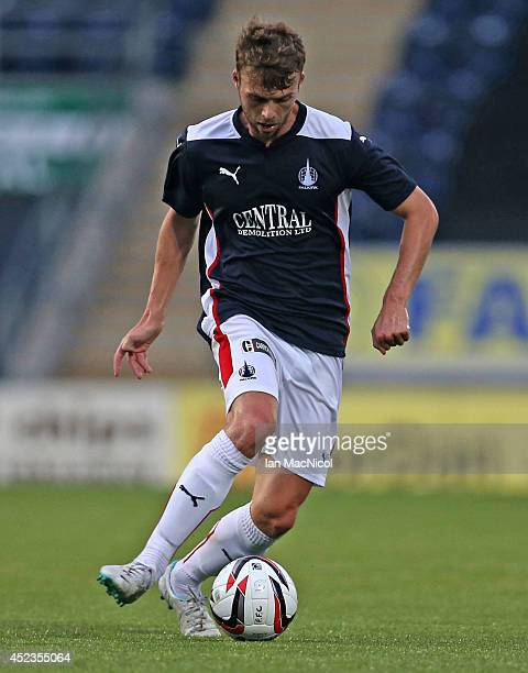 Rory Loy of Falkirk controls the ball during the Pre Season Friendly match between Falkirk and Rotherham United at The Falkirk Stadium on July 18...