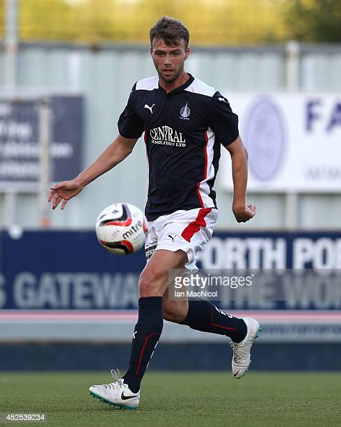 Rory Loy of Falkirk controls the ball during the Stirlingshire Cup Final match between Falkirk and Stirling Albion at The Falkirk Stadium on July 22...