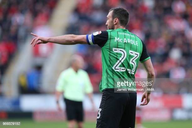 Rory McArdle of Scunthorpe United during the Sky Bet League One Play Off Semi FinalSecond Leg between Rotherham United and Scunthorpe United at The...