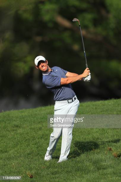 Rory McIlory of Northern Ireland plays his second shot on the 15th hole during the final round of the Arnold Palmer Invitational Presented by...