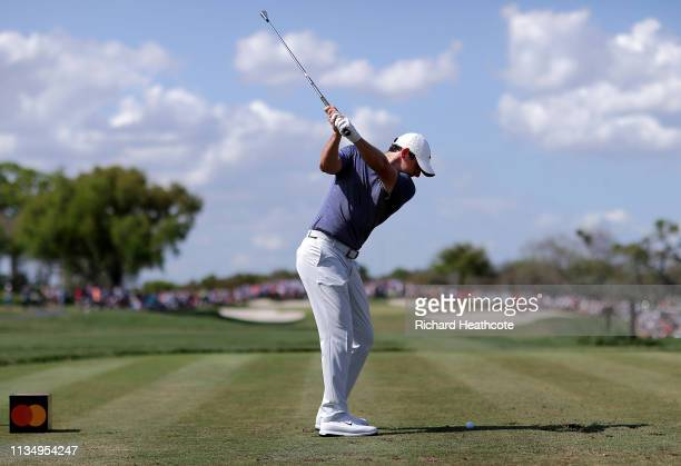Rory McIlory of Northern Ireland plays his shot from the seventh tee during the final round of the Arnold Palmer Invitational Presented by Mastercard...