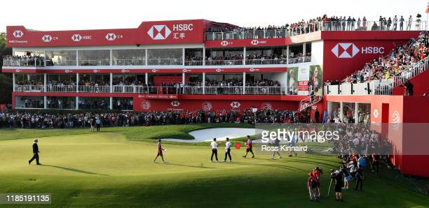 Rory McIlroy celebrates after winning at the first play-off hole during the final round of the WGC HSBC Champions at Sheshan International Golf Club...