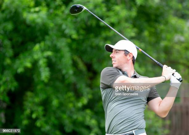 Rory McIlroy during the third round of the Memorial Tournament at Muirfield Village Golf Club in Dublin Ohio on June 02 2018
