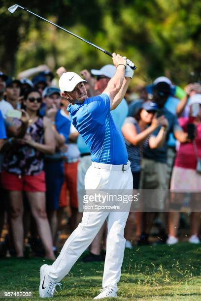 Rory McIlroy hits a shot during THE PLAYERS Championship on May 11 2018 at TPC Sawgrass in Ponte Vedra Beach Fl