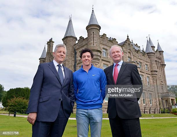 Rory McIlroy meets with Northern Ireland Assembly First Ministers, Peter Robinson and Martin McGuinness at Stormont Castle in recognition of his...