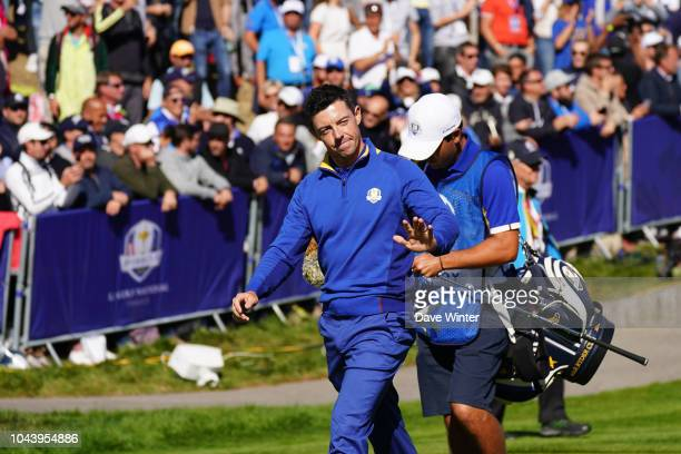 Rory McIlroy of Europe during Day Three of the 2018 Ryder Cup at Le Golf National on September 30 2018 in Paris France