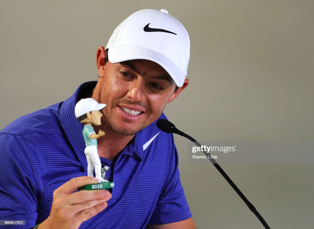Rory McIlroy of Northern Ireland addresses a press conference ahead of THE PLAYERS Championship on the Stadium Course at the TCP Sawgrass on May 9, 2017 in Ponte Vedra Beach, Florida.