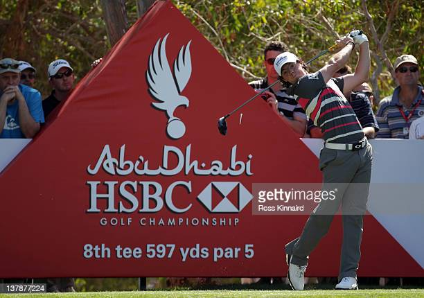 Rory McIlroy of Northern Ireland during the final round of Abu Dhabi HSBC Golf Championship at the Abu Dhabi HSBC Golf Championship on January 29...