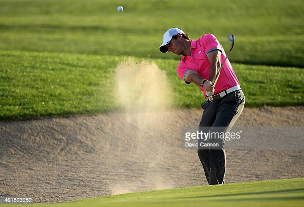 Rory McIlroy of Northern Ireland during the pro-am for the Abu Dhabi HSBC Golf Championship at Abu Dhabi Golf Club on January 14, 2015 in Abu Dhabi,...