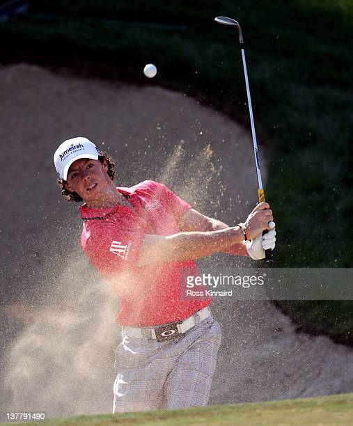 Rory McIlroy of Northern Ireland during the second round of Abu Dhabi HSBC Golf Championship at the Abu Dhabi HSBC Golf Championship on January 27...