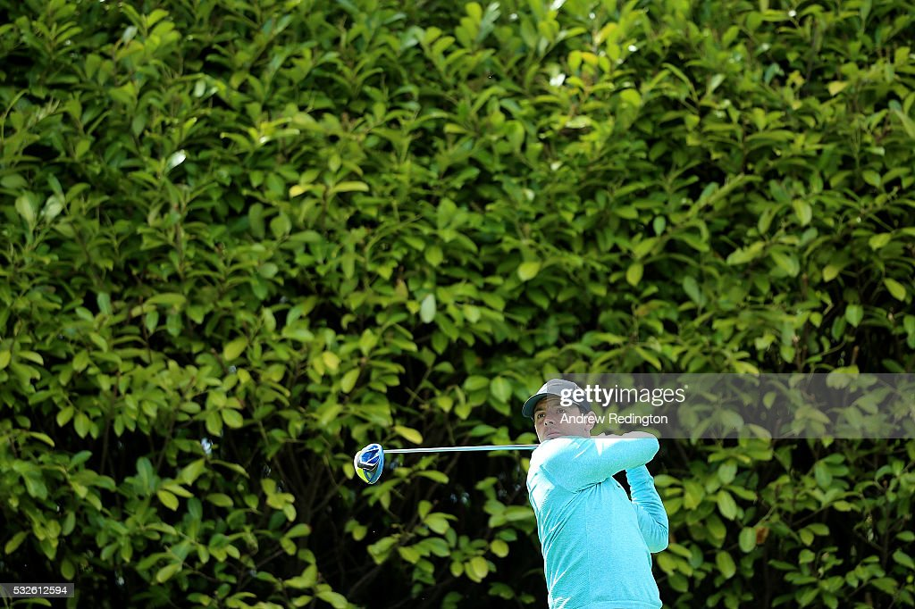 Rory McIlroy of Northern Ireland hits his tee shot on the 4th hole during the first round of the Dubai Duty Free Irish Open Hosted by the Rory Foundation at The K Club on May 19, 2016 in Straffan, Ireland.