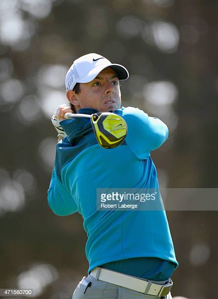 Rory McIlroy of Northern Ireland hits his tee shot on the fifth hole during round one of the World Golf Championship Cadillac Match Play at TPC...