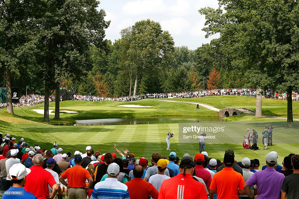 Rory McIlroy of Northern Ireland hits off the third tee during the final round of the World Golf Championships-Bridgestone Invitational at Firestone Country Club South Course on August 3, 2014 in Akron, Ohio.