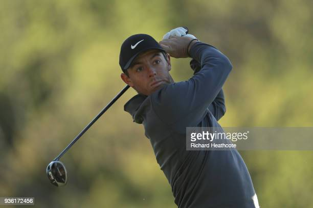 Rory McIlroy of Northern Ireland in action during a practise round for the WGC Dell Technologies Matchplay at Austin Country Club on March 20 2018 in...