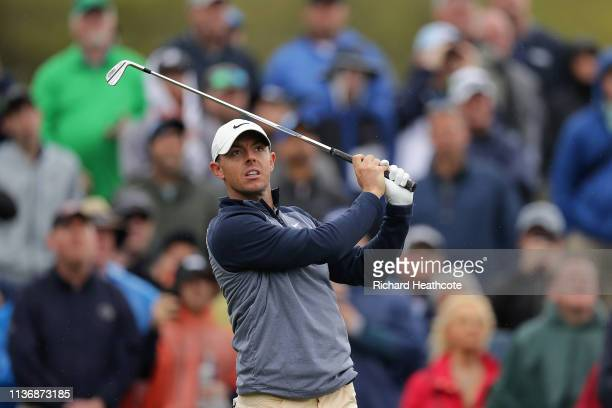 Rory McIlroy of Northern Ireland in action during the final round of The PLAYERS Championship on The Stadium Course at TPC Sawgrass on March 17 2019...