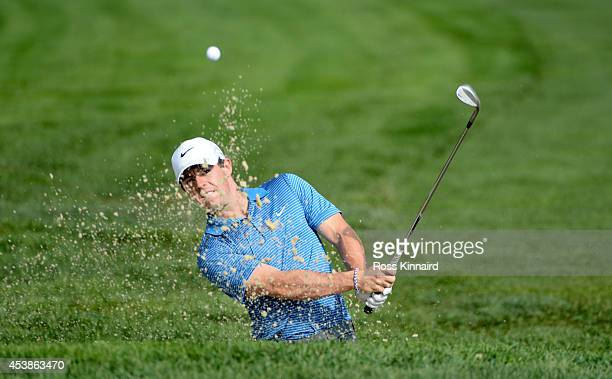 Rory McIlroy of Northern Ireland in action during the pro am event prior to The Barclays at The Ridgewood Country Club on August 20 2014 in Paramus...