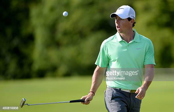 Rory McIlroy of Northern Ireland in action during the proam event prior to the The Irish Open at the Fota Island Resort on June 18 2014 in Cork...