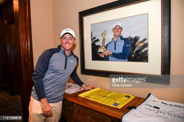 Rory McIlroy of Northern Ireland in the Champions locker room after the final round of THE PLAYERS Championship on THE PLAYERS Stadium Course at TPC...