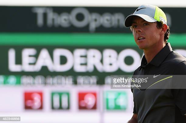 Rory McIlroy of Northern Ireland is seen during the second round of The 143rd Open Championship at Royal Liverpool on July 18, 2014 in Hoylake,...