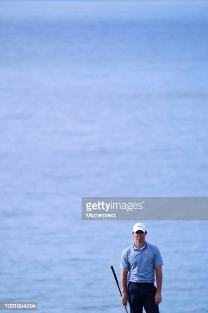 Rory McIlroy of Northern Ireland is seen on the 12th hole during the final round of the Sentry Tournament of Champions at the Plantation Course at...