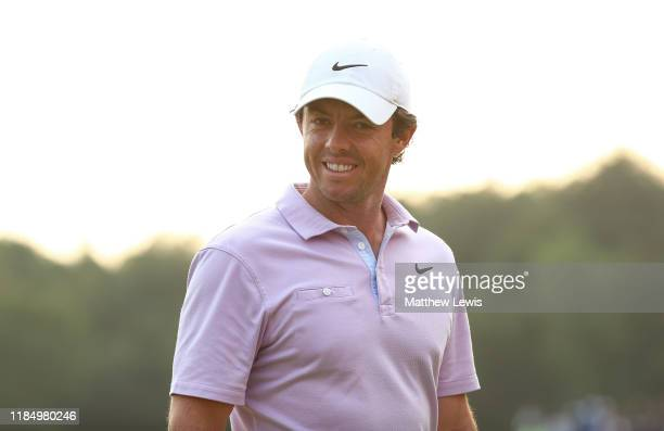 Rory McIlroy of Northern Ireland looks on after his round during Day Three of the WGC HSBC Champions at Sheshan International Golf Club on November...