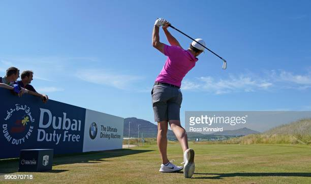 Rory McIlroy of Northern Ireland on the 17th tee during a practice round prior to the Dubai Duty Free Irish Open at Ballyliffin Golf Club on July 3...