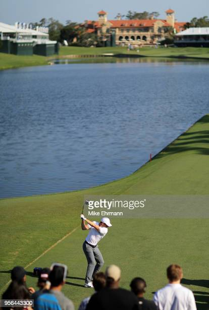 Rory McIlroy of Northern Ireland on the 18th green during practice rounds prior to THE PLAYERS Championship on the Stadium Course at TPC Sawgrass on...