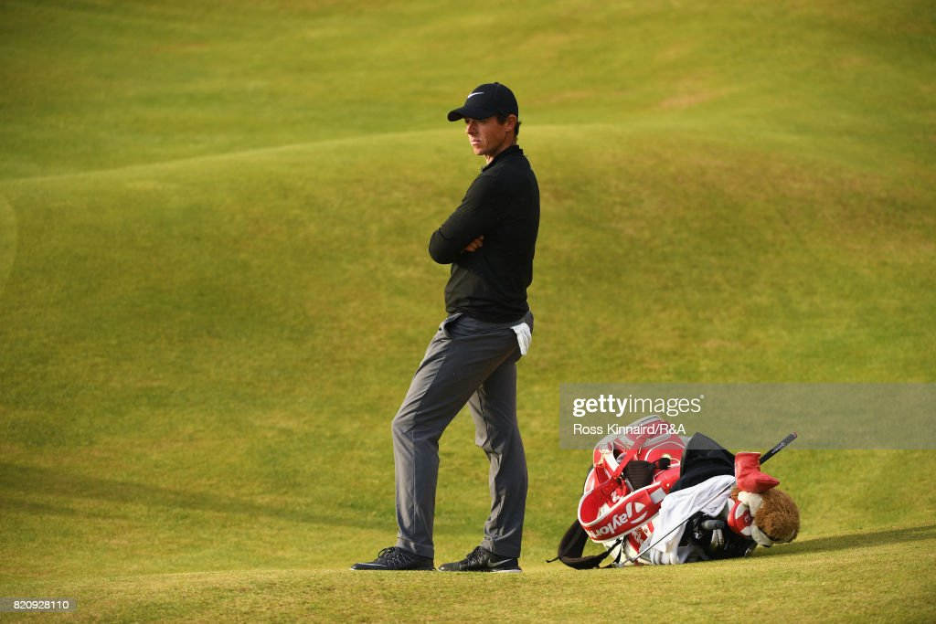 Rory McIlroy of Northern Ireland on the 18th green during the third round of the 146th Open Championship at Royal Birkdale on July 22, 2017 in Southport, England.