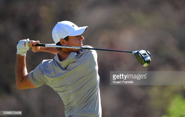 Rory McIlroy of Northern Ireland plays a shot during the pro am prior to the Nedbank Golf Challenge at Gary Player CC on November 7 2018 in Sun City...