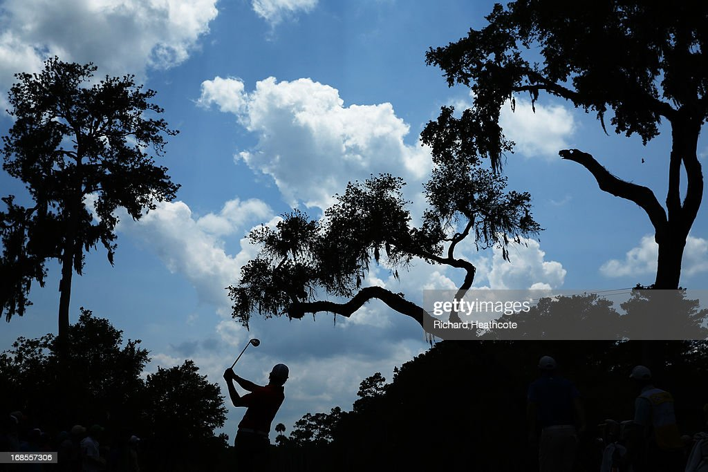 Rory McIlroy of Northern Ireland plays a shot from the sixth tee during round three of THE PLAYERS Championship at THE PLAYERS Stadium course at TPC Sawgrass on May 11, 2013 in Ponte Vedra Beach, Florida.
