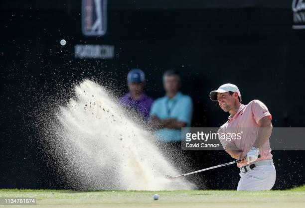 Rory McIlroy of Northern Ireland plays his second shot on the par 3 17th hole during the third round of the 2019 Arnold Palmer Invitational presented...
