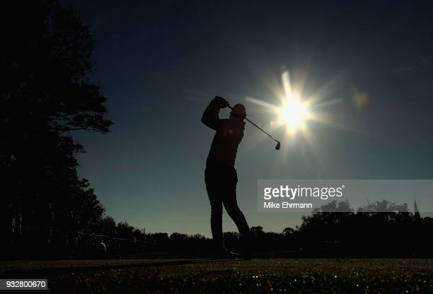 Rory McIlroy of Northern Ireland plays his shot from the 11th tee during the second round at the Arnold Palmer Invitational Presented By MasterCard...