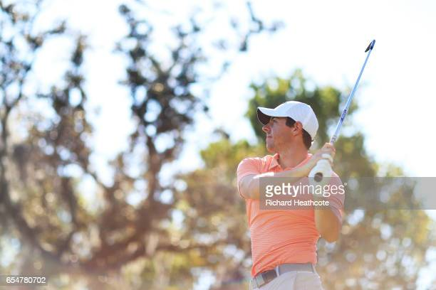 Rory McIlroy of Northern Ireland plays his shot from the second tee during the third round of the Arnold Palmer Invitational Presented By MasterCard...