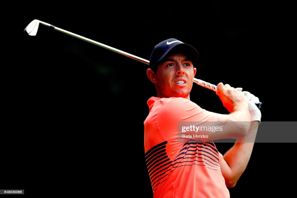 Rory McIlroy of Northern Ireland plays his tee shot on the 11th hole during the third round of the World Golf Championships Mexico Championship at Club De Golf Chapultepec on March 4, 2017 in Mexico City, Mexico.