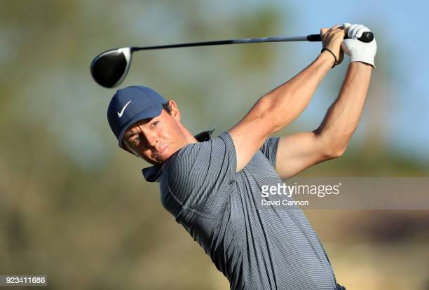 Rory McIlroy of Northern Ireland plays his tee shot on the par 4 12th hole during the second round of the 2018 Honda Classic on The Champions Course...
