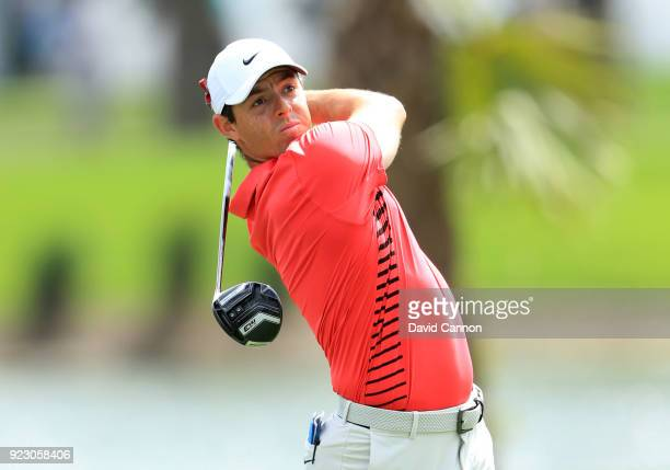 Rory McIlroy of Northern Ireland plays his tee shot on the second hole during the first round of the 2018 Honda Classic on The Champions Course at...
