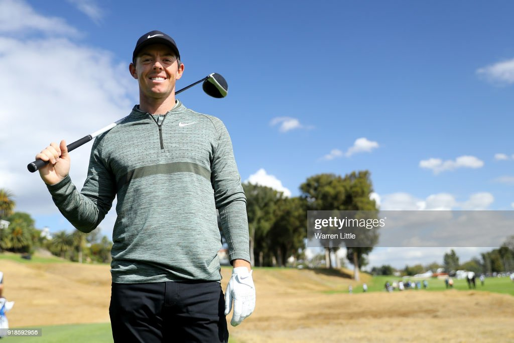 Rory McIlroy of Northern Ireland poses for a photo during the Pro-Am of the Genesis Open at the Riviera Country Club on February 14, 2018 in Pacific Palisades, California.