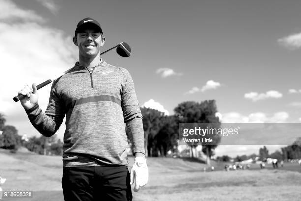 Rory McIlroy of Northern Ireland poses for a photo during the ProAm of the Genesis Open at the Riviera Country Club on February 14 2018 in Pacific...