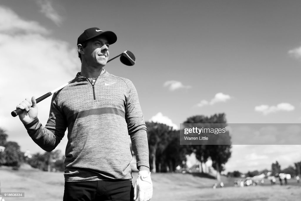 . Rory McIlroy of Northern Ireland poses for a photo during the Pro-Am of the Genesis Open at the Riviera Country Club on February 14, 2018 in Pacific Palisades, California.